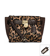 MICHAEL Michael Kors® Hamilton Traveler Leopard Hair Calf Messenger