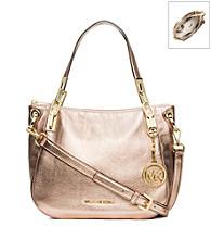 MICHAEL Michael Kors® Brooke Metallic Leather Medium Shoulder Bag