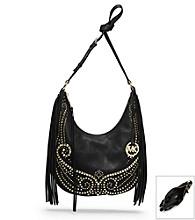 MICHAEL Michael Kors® Rhea Studded Leather Medium Shoulder Bag