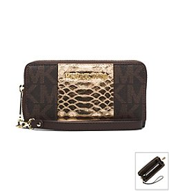 MICHAEL Michael Kors® Jet Set Travel Logo Snake Pattern-Embossed Phone Case