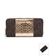 MICHAEL Michael Kors® Jet Set Travel Logo Snake Pattern-Embossed Leather Wallet