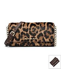 MICHAEL Michael Kors® Jet Set Travel Leopard Hair Calf Chain Wallet