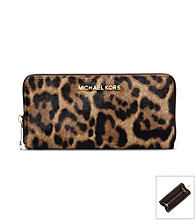 MICHAEL Michael Kors® Jet Set Travel Leopard Hair Calf Wallet