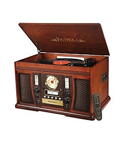 Innovative Technology The Aviator 7-In-1 Bluetooth Wooden Music Center