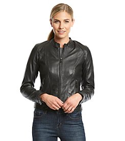 Marc New York Zipfront Leather Scuba with Side Stitching