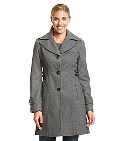 Kenneth Cole® Single Breasted Notch Collar Walker with Side Tabs