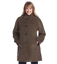 Jones New York® Plus Size Stand Collar Walker