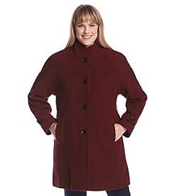 Jones New York® Plus Size Raglan Sleeve Stand Collar Walker