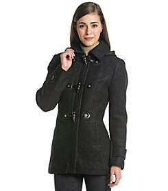Calvin Klein Petites' Toggle Wool Coat with Hood