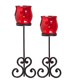The Pomeroy Collection Set of Two Red Brandy Lighting