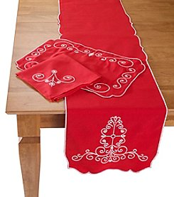 Lenox® French Perle Red Table Linens