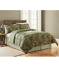 LivingQuarters Reversible Microfiber Down-Alternative Delaney Camo Comforter