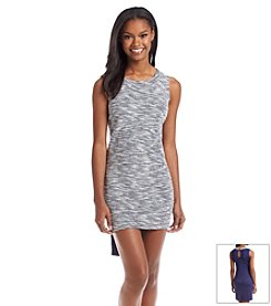 Fire® Solid Back Textured Front Shift Dress