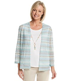 Alfred Dunner® Tivoli Garden Chevron Layered Look Top