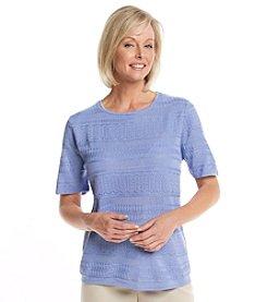 Alfred Dunner® Newport Texture Sleeve Sweater