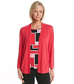 Alfred Dunner® Play On Color Geometric Layered Look Sweater