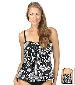24th & Ocean® Baroque My Heart Peek A Boo Tankini Top