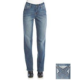 Earl Jean® Reverse Bling Straight Leg Jeans