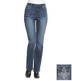 Earl Jean® Flower Back Flap Pocket Boot Cut Jeans