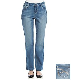 Earl Jean® Thick Stitch Swirl Boot Cut Jeans