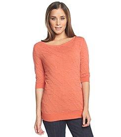Calvin Klein Jeans 3/4 Sleeve Boatneck Sweater