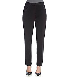 T Tahari® Ponte Pant With Faux Leather