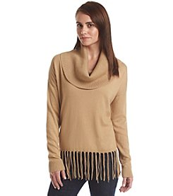 MICHAEL Michael Kors® Fringe Cowlneck Sweater