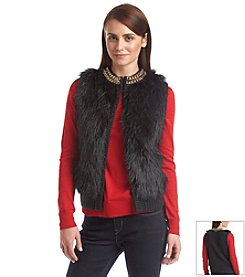 MICHAEL Michael Kors® Chain Neck Fur Sweater Vest