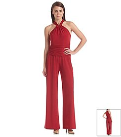Nine West® Halter Ruched Waist Jumpsuit