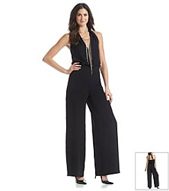 Nine West® Sleeveless Blouson Necklace Jumpsuit