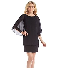 MSK® Flutter Sleeve Blouson Dress