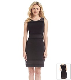 Marc New York Mesh Yoke Sheath Dress