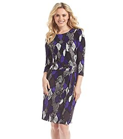 Nine West® Faux Wrap Printed Dress