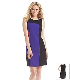 Nine West® Sleeveless Colorblock Shift Dress