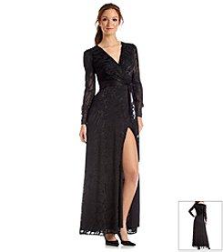 Jessica Simpson Animal Print Maxi Dress With Tie Belt