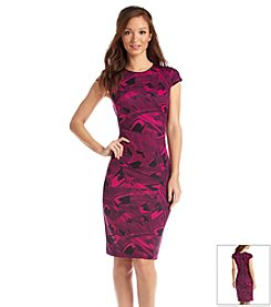 Muse Swirl Print Sheath Dress