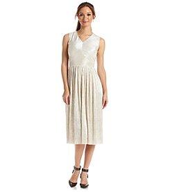 Ivy & Blu™ Mini Pleat Metalic A-Line Dress