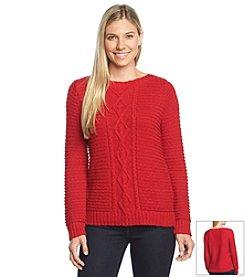 Jones New York Sport® Petites' Cable Stitch Sweater