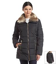 MICHAEL Michael Kors® Short Coat W/ Faux Fur Wing Collar