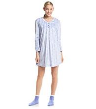 KN Karen Neuburger Sleepshirt and Slipper Socks Set