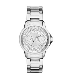 A|X Armani Exchange Stainless Steel Watch with Silvertone Dial