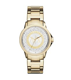 A|X Armani Exchange Goldtone Watch with Silvertone Dial