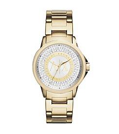 A X Armani Exchange Goldtone Watch with Silvertone Dial