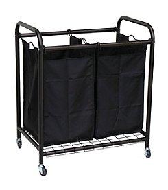 Oceanstar 2-Bag Bronze Rolling Laundry Sorter