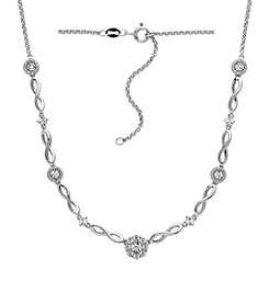 DiAura Diamond Accent Necklace in Sterling Silver