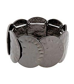Erica Lyons® Hematite Disk Stretch Bracelet