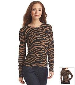 Olive & Grace® Cheetah Cardigan