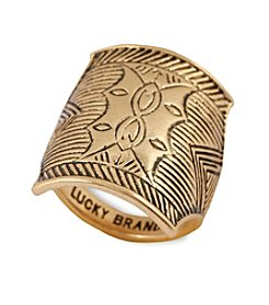 Lucky Brand® Goldtone Shield Ring