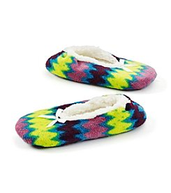 Fuzzy Babba® Zig Zag Print Slippers