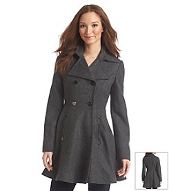 Laundry Double Breasted Fit and Flare Coat